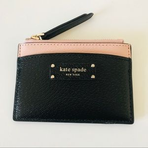 NWT Kate Spade Small Zip Card Holder